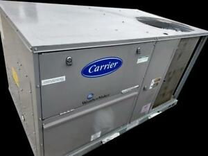 New Carrier 50kc 4 Ton Packaged Rooftop Ac Unit 47 500 Btu W Electric Heat