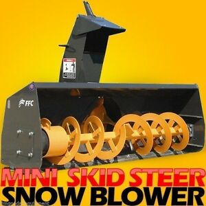 Universal Mini Skid Steer Mount Attachment 48 Snow Thrower blower fits Thomas