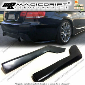 For Bmw E90 325i 335i Rear Bumper Sides Splitter Extension Spats Mudguard Lip
