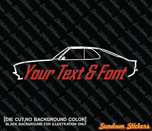 2x Custom Your Text Car Sticker For Opel Manta A Gte Coupe Classic Car