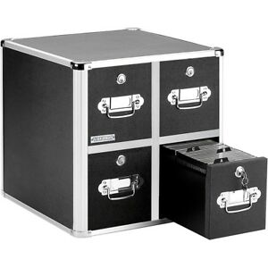 Vaultz Cd Cabinet 4 Drawer Black