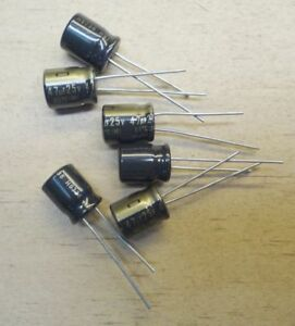 6 Count Nichicon Muse Kz 47uf 25v High end Audio Electrolytic Capacitor