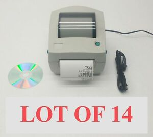 Lot 14 Zebra Lp2844 Psat Usb Serial Parallel Thermal Label Barcode Printer