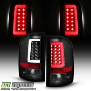 Black 2007 2013 Chevy Silverado 1500 2500 3500 Led Tube Tail Lights Brake Lamps