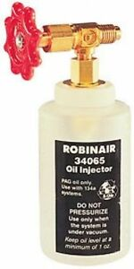 Robinair R 134a A C Oil Injector With 1 2 Acme Fitting 34065