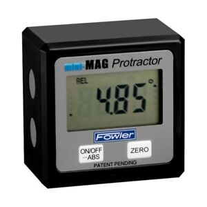 Fowler Mini mag Angle Gauge Digital Protractor Magnetic Electronic Level