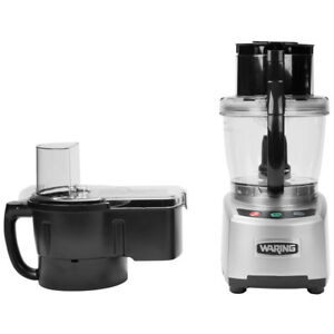 New Waring Commercial Wfp16scd 4 Qt Food Processor W batch Bowl Continuos Feed