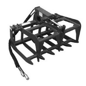 New 48 4 Skid Steer Loader Compact Tractor Light Weight Grapple Root Rake