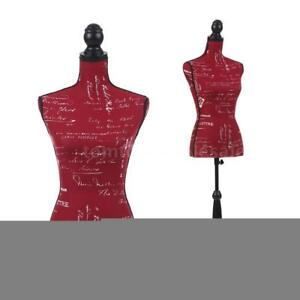 Store Dress Form Female Mannequin Torso Dressmaker Wood Stand Display Red Q2c2