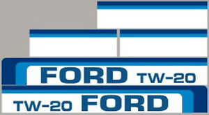 New Tw20 Ford Tractor Hood Decal Kit Tw20 High Quality Long Lasting Vinyl Decals