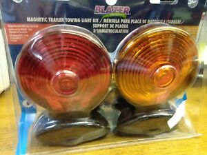 Blazer C6300 2 Sided Magnetic Trailer Towing Light Kit 1 Pair New