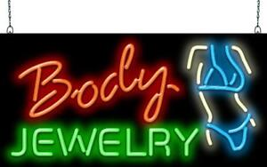 Body Jewelry Neon Sign Jantec 2 Sizes Piercings Tattoo Body Art