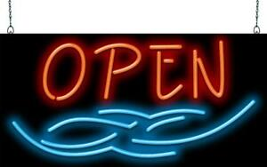Open With Tribal Art Neon Sign Jantec 2 Sizes tattoo piercing free Shipping