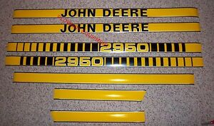 Jd410 Hood Decal Kit Set For John Deere Tractor 2950 New