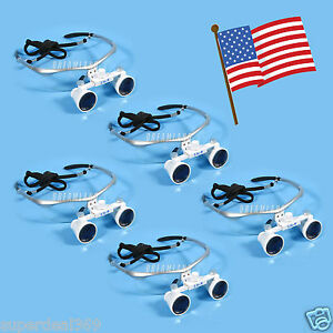 5 usa New Dental Optical Surgical Binocular 3 5x Loupes Glasses Magnifier Silver