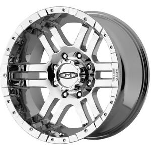 17x9 Chrome Moto Metal Mo951 Wheels 8x6 5 12 Lifted Hummer H2