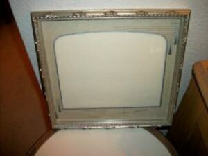 Vintage Gilt Wood Gesso Picture Frame Art Deco Signed Mat Chic Shabby 1940 S