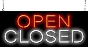 Open Closed Neon Sign Jantec 2 Sizes Each Word Independent Restaurant