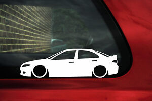 2x Lowered Car Outline Stickers For Mazda 6 Sedan Ts Mps 2002 2008
