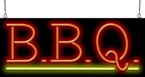 Bbq Neon Sign With Underline Jantec 2 Sizes free Shipping barbecue real Neon
