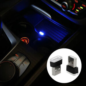 Mini Usb Blue Led Car Interior Light Neon Atmosphere Ambient Lamp