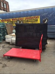 Warehouse Carts Flat Stock Utility Backroom Cart Used Store Fixtures Nursery Etc