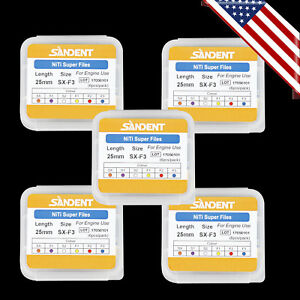5pk Dental Endodontics Super Niti Files Rotary Root Canal Engine Use Super Files