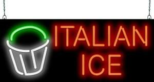 Italian Ice Cup Neon Sign Jantec 2 Sizes Ice Cream Shaved Frozen