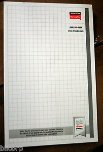 Memo Scratch Note Pads 5 5 X 8 5 Simpson Strong Grid 40 sheet Pads Case 244 Pad