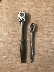 Lot Of 2 Snap On Tools 3 8 Drive Ratchet F 71 C Snap On 1 2 Drive 71 10 Usa