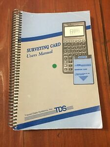 Tds Surveying Card User s Manual Surveyor