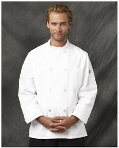 Wholesale Lot Of 6 New White Chef Coat Size Small Unisex Chef Designs Red Kap