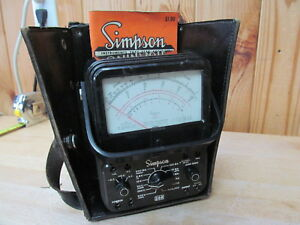 Simpson 260 Series 6 Analog Voltmeter W Leads Vintage Electronic Testing