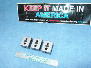 Moore Tool Co Blocks 3 Blocks Parallels Toolmaker Machinist Inspection Qa