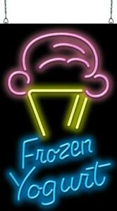 Ice Cream Cone With Frozen Yogurt Neon Sign Jantec 2 Sizes Free Shipping