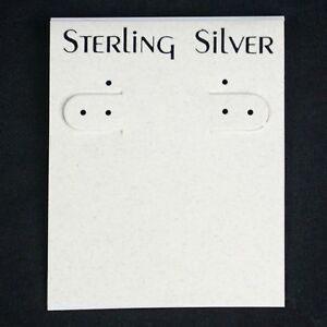 839 Sterling Silver Cream Hanging Earring Cards Display 2 1 2 X 2 With Lip