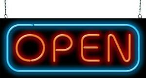 Deluxe Open Neon Sign Jantec 2 Sizes Store Shops Diner Cafe Bar