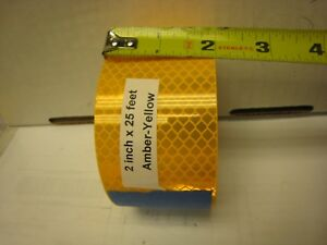 Amber Sunflower Yellow Gold Reflective Conspicuity Tape 2 X 25 Ft