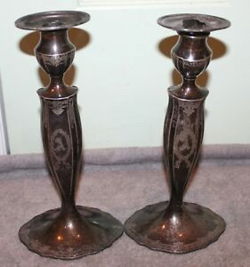 Vintage Marcus Co Sterling Silver Candle Sticks Brooklyn Alba Estate