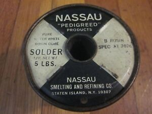 Western Electric Nassau Water white Rosin Core Solder Best Of The Best 4lb 3oz