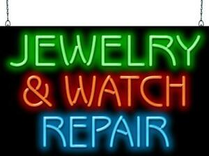 Jewelry And Watch Repair Neon Sign Jantec 2 Sizes Pawn Sell Buy Fix