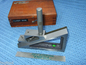 Planer Gage Brown sharpe No 624 Machinist Toolmaker Wooden Case Vintage Qa