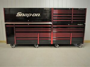 Snap On Black Red Mr Big 144 Epiq Tool Box Stainless Chest Hutch