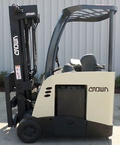 Crown Model Rc5545 40 2008 4000 Lb Capacity Electric Stand Up Docker Forklift