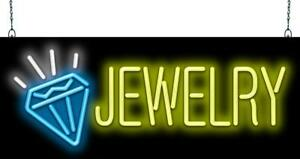 Jewelry Graphic Neon Sign Jantec 2 Sizes Pawn Loans Diamonds Rings