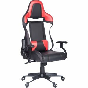 High Back Recliner Racing Style Gaming Chair Pu Leather Computer Desk Chair