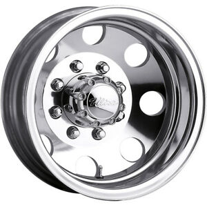 17x6 5 Polished Ultra 002 Dually Wheels 8x6 5 140 Lifted Dodge Ram 2500
