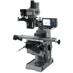 Jet Mill With 3 axis Acu rite G 2 Millpower Cnc Jtm 949evs 230 Free Shipping