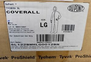 X10 Dupont Tychem Sl Coverall Size Lg Protective Suit Sl122bwhlg0012bn Freeship
