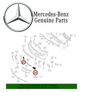 For Mercedes Benz W220 S class Set Of Driver Passenger Outer Grilles Genuine